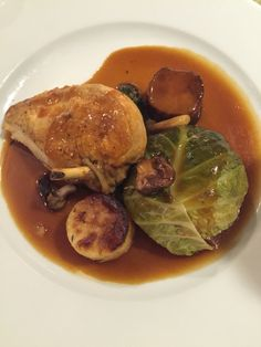 Chickenbrest with green cabbage