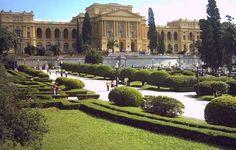 Museu do Ipiranga. São Paulo - Brasil. Antigo Palácio do Ipiranga. localizado o Parque da Independência, local onde, conforme a tradição histórica, o imperador Dom Pedro I proclamou a independência do Brasil.