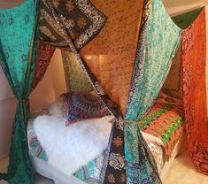 India Sari, King Queen, Bohemian Decor, Bohemian Style, California King Bedding, Canopy Outdoor, Bali, Hippie Curtains, Chic