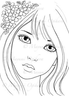 Violet digital stamp colouring page by pencilartbymayumi on Etsy Blank Coloring Pages, Free Printable Coloring Pages, Coloring Books, Disney Drawings, Cute Drawings, Scratch Art, Kids Art Class, Sad Art, Learn To Paint