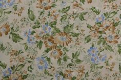 Vintage Dress Fabric Vintage Floral Fabric by #TheFabricScore www.thefabricscore.etsy.com #fabric #sewing #crafts #diy #vintage