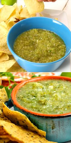 Tangy Salsa Verde will be a hit on game day or Mexican night It s a versatile recipe great with chips over burritos and enchiladas and perfect as an accompaniment to just about any Mexican dish appetizer Mexican salsa Homemade Mexican Salsa, Mexican Salsa Verde, Mexican Salsa Recipes, Mexican Snacks, Authentic Mexican Recipes, Authentic Salsa Recipe, Carne Asada, Nachos Mexicanos, Tofu