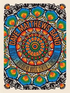 DMB poster: Riverbend Music Center, Cincinnati OH, 6/5/2015 I got it in metallic!