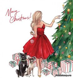 Love this drawing... would LOVE to personalize these for people one year!  Merry Christmas!  Inslee Haynes - one of my favorite artists