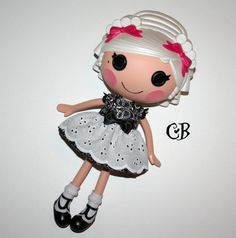 Black Eyelet Lace Dress for Lalaloopsy Dolls // by CrucialBaby, $14.00