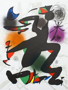 Joan Miro-Litografia oorspronkelijke IV-1975 Mourlot lithografie