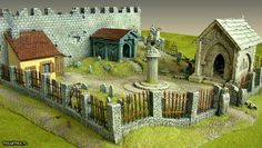 Buildings, City, Creepy, Crypt, Fear, Grave, Graves, Graveyard, Memorial, Monument, Mordheim, Ruin, Ruined, Ruins, Scene, Stone, Terrain, To...
