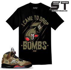 Shirts match Jordan 5 supreme camo sneaker retro 5 supreme camo tees.