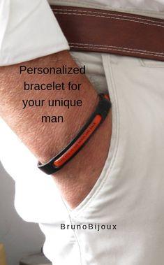 Leather bracelet Engraved bracelet Personalized bracelet | Etsy Mens Engraved Bracelets, Personalized Bracelets, Bracelet Men, Engraved Gifts, Best Friend Gifts, Gifts For Father, Gifts For Dad, Gifts For Friends, Fathers