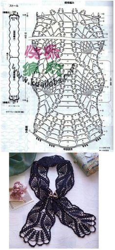 sweet crochet - lacy pineapple scarf