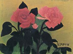 Two Pink Roses - Horace Pippin