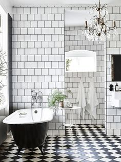 black and white bathroom - Google Search