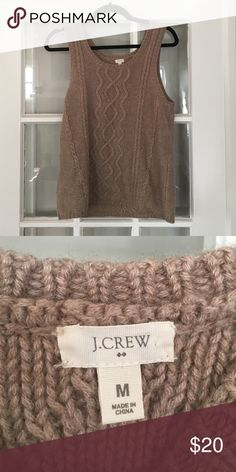 J. Crew Wool Sweater Vest Sleeveless Sweater J. Crew Wool Sweater Vest Sleeveless Sweater. Size M.  Used condition but no rips or stains. J. Crew Sweaters