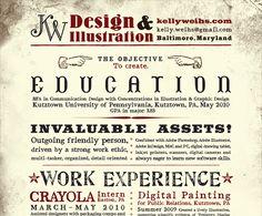 "Graphic Design resume inspiration--""25 Intelligent Resume Ideas"""