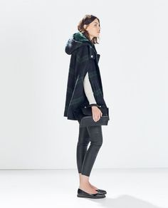 Wish List Item 1: Holiday Time HOODED CHECKED WOOL CAPE from Zara