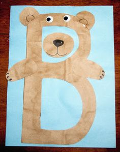 Letter B craft: B is for Bear