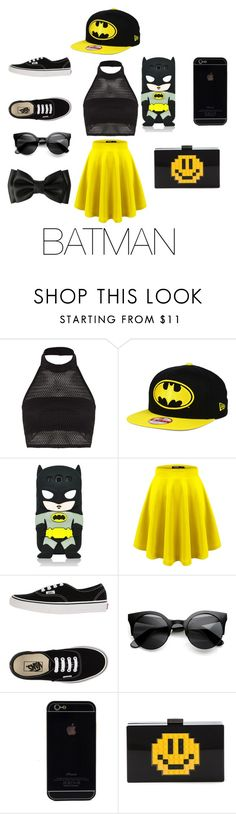 """""""Batman (again)"""" by nosaj14 ❤ liked on Polyvore featuring Boohoo, Samsung, Vans and Les Petits Joueurs"""