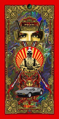 Kill Bill Wondercon 2017 Silk Screen Foil Print by Matt Dye Signed Ed 73 Kill Bill Costume, Kill Bill Movie, Ouvrages D'art, Poster Design, Cinema Posters, Alternative Movie Posters, Movie Poster Art, Quentin Tarantino, Black Mamba