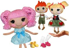 Lalaloopsy Sewing Patterns. Handmade doll and clothes. Fits actual plastic dolls too!