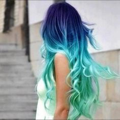 not like I would ever be aloud to die my hair, but I love how its purple and then dark blue and then ocean colored.. very gorgouse