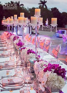 A mirrored runner or vase can offer just the right amount of sparkle to your reception table. 10 Unbelievably Creative Centerpiece Ideas
