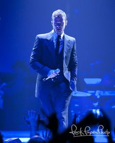Justin Timberlake performing live at Rose Garden arena in Portland on his FutureSex/LoveShow Tour.