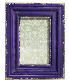 Antique Vintage StylingWork on an old fashioned look with this rustic photograph frame Distressed frame in an unusual purple with a shabby chic rough finish Suitable for wall mounting or as a standing frame Would make a lovely gift Frame: H23cm x W18cm x D2cm Aperture: approximately 9cm x 13.5cm We have a selection of vintage style distressed frames of various colours in our rangeWoodFrame: H23cm x W18cm x D2cm Aperture: 9cm x 13.5cm