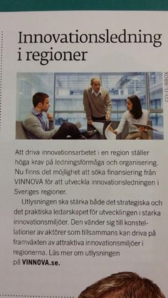Vinnova har 2 700 000 000 kr för innovationer. #innovation, #förnyelse, #vinnova, #innovationsgruppen