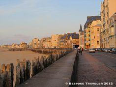Seashore of St. Malo, France