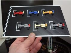 "Another 6 colors 3D print .... with 6 ways Flux capacitor, MarlinKimbra (MKDuo),,,,,, printed with BFB 3000 IeC refurbished....""Alligator"" on board.... ;) A dream for first race in Australia..... FORZA FERRARI!!!!!!!!!!!!! Formula 1 starting grid...... just a dream for Melbourne 2017........ ;)"
