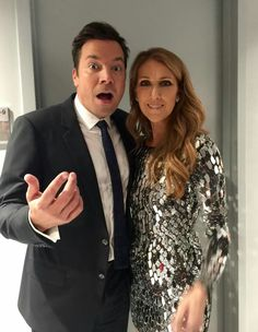 Celine and Jimmy Fallon