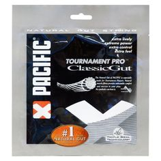 Pacific Classic Gut Natural Gut 16G Tennis String by Pacific. $29.95. Introducing Pacific - the official string of the ATP Tour! Pacific Classic Gut 16 offers natural gut playability at a more economical price point. Features Triple Seal Technology, a unique system which increases the playability, durability, and at the same time reduces tension loss. According to Pacific, Triple Seal Technology offers 35% more durability and 75% more humidity protection versus o...