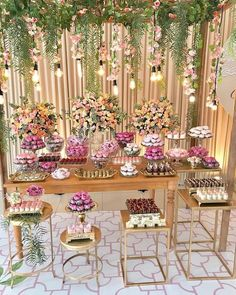 Beautiful And Romantic Bridal Shower Ideas - Bridal Shower Decorations, Birthday Party Decorations, Birthday Parties, Wedding Decorations, Wedding Stage, Dream Wedding, Candy Table, Dessert Table, Gold Party