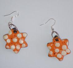"""Ohrringe """"estrella naranja"""" – Unikate Schmuck Drop Earrings, Personalized Items, Beauty, Jewelry, Fashion, Orange, Stars, Earrings, Stud Earrings"""