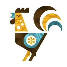 Rooster Illustration // by Ty Wilkins Rooster Illustration, Chicken Illustration, Cute Illustration, Illustration Design Graphique, Blog Design Inspiration, Chicken Art, Chicken Images, Clipart Design, Chickens And Roosters