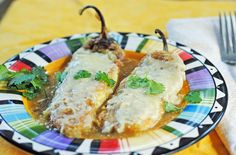 Chile rellenos - delicious!! Chiles kinda fell apart a little, but still tasted delish.