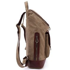EcoCity Vintage Leather Canvas Laptop Rucksack Backpack School Bag (Blue)  - Click image twice for more info - See a larger selection of Girls teen  backpacks at http://kidsbackpackstore.com/product-category/girls-teen-backpacks/- kids, juniors, back to school, kids fashion ideas, teens fashion ideas,  school supplies, backpack, bag , teenagers,  boys, gift ideas