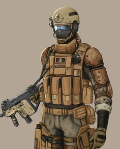 Futuristic Warrior Art | future soldier concept art by fonteart digital art drawings paintings ...