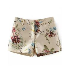 Multicolor Floral Pattern Shiny Shorts