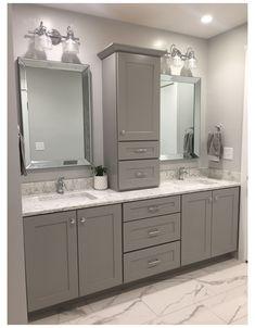 Bathroom Cupboards, Bathroom Layout, Bathroom Interior, Bathroom Ideas, Bathroom Organization, Bathroom Vanity Storage, Budget Bathroom, Bath Ideas, Guys Bathroom