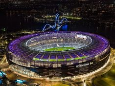 It's your last chance to experience Optus Stadium at night ⭐⭐⭐ Only a handful of tickets left to the final Tours by Light show this… West Coast Eagles, Stadium Architecture, Perth Western Australia, Sports Stadium, The Big Hit, All Blacks, Rugby World Cup, Football Stadiums, Amazing Architecture