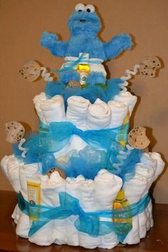 cookie monster topper for baby shower more boy baby shower baby shower