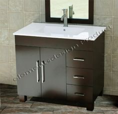 Special Offers - 36 Bathroom Vanity Solid Wood Cabinet Ceramic Top Sink Faucet MO1 - In stock & Free Shipping. You can save more money! Check It (April 16 2016 at 11:15PM) >> http://bathvanitiesusa.net/36-bathroom-vanity-solid-wood-cabinet-ceramic-top-sink-faucet-mo1/