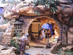 Christmas Crib Ideas, Christmas Pictures, Christmas Cards, Christmas Nativity Scene, Ube, Xmas Decorations, Rock Art, Cribs, Projects To Try