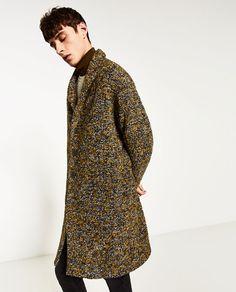 Adrien Sahores for Zara Man November 2016 Zara Man, Kappa, Fashion Photo, Mantel, Men Sweater, High Neck Dress, Coat, Sweaters, Inspiration