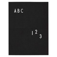 Design Letters Letterbord A4 - Zwart - afbeelding 1