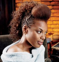 Image detail for -African American Hair Braiding Styles Mohawk style braid design .