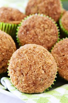 Apple Zucchini Muffins Recipe on twopeasandtheirpod.com A great recipe for using up your summer zucchini!