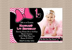 Pink Chevron Minnie Mouse Birthday Party Photo by Honeyprint, $15.00    RED and BLACK