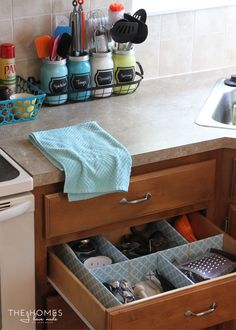 How to Make a Customizable Kitchen Drawer Organizer